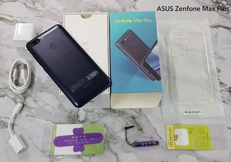 *典藏奇機*ASUS ZenFone Max Plus ZB570TL 5.7吋18:9全螢幕 臉部、指紋辨識 藍!!