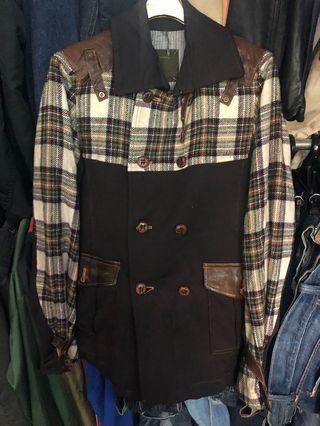 女生L可以穿 日本製inbreed真皮領 西裝外套版型 修身版型 棉質