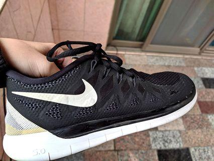 正品 Nike 5.0 Running Shoes Mens 13 Black White 超輕 運動鞋 慢跑鞋