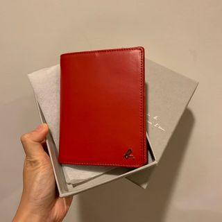 專櫃正品 agnes b 紅色護照夾