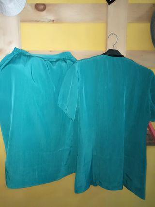 1 set blazer hijau tosca #mauliburan#visitsingapore