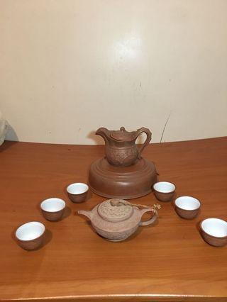 茶壺組 旅行茶具 大小壺 杯 盤
