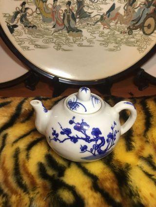 茶壺 茶具 青花瓷 明宣德年制