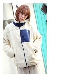 日本正品代購kangol袋鼠毛毛外套羔羊外套泰迪熊外套黑色米色秋冬外套立領外套日本流行卡其
