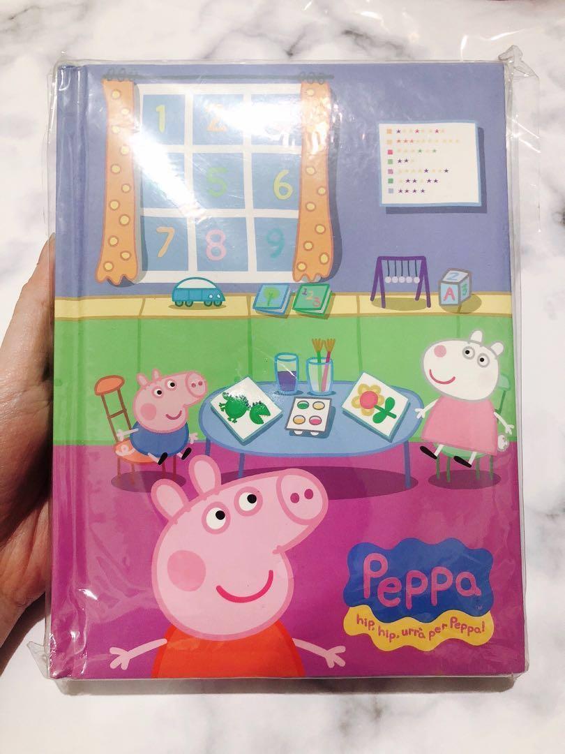 全新 佩佩豬 粉紅豬小妹彩色厚筆記本📒