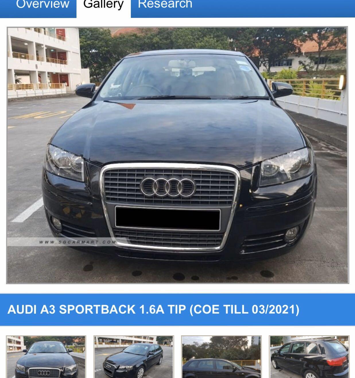 Audi A3 Sportback 1.6 5-Dr (A)