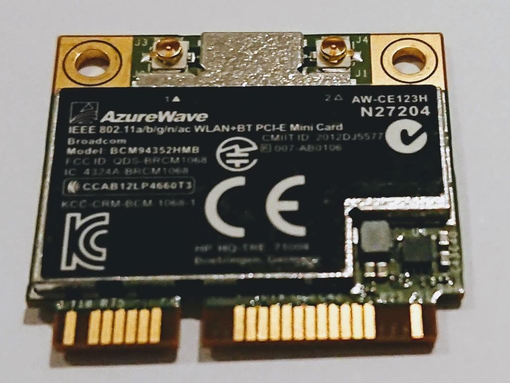 BCM94352HMB 802.11//ac//867Mbps WLAN BT4.0 Half Mini PCI-E Card