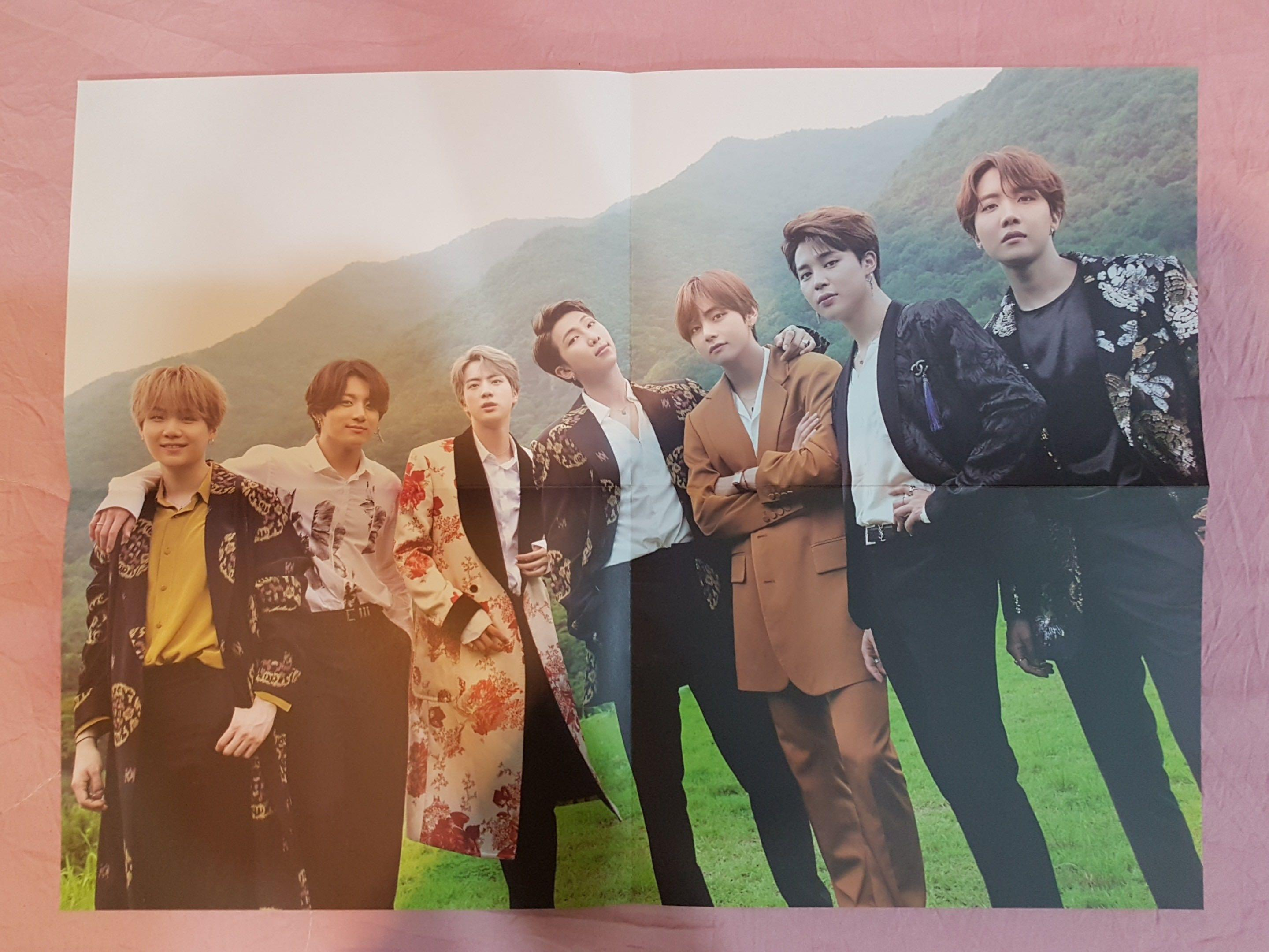 BTS Summer Package in Korea - mini posters & folded poster