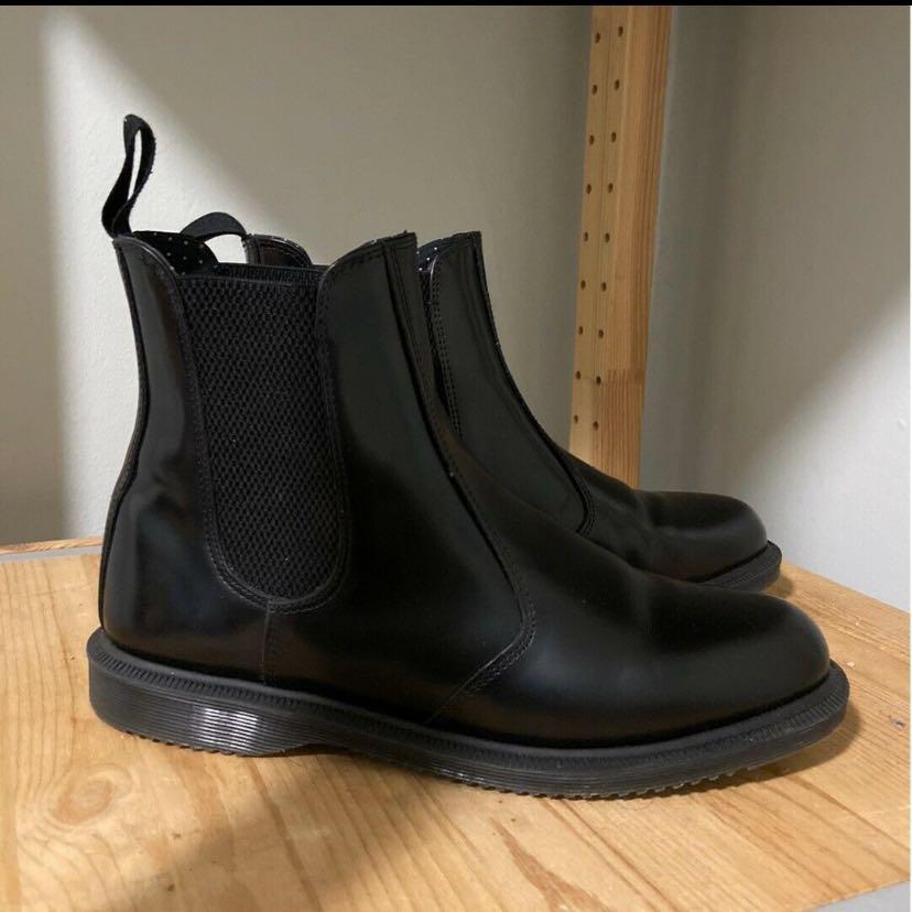 Doc Martens Dr Martens Flora Smooth Leather Black Boots size 9