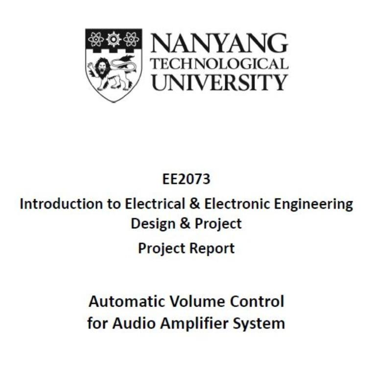 Ee2073 Introduction To Eee Design And Project Weekly Logbook Final Report Ntu Eee Books Stationery Textbooks Tertiary On Carousell