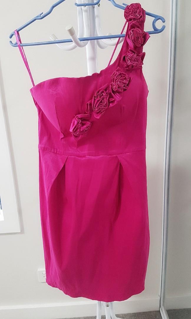 Forecast purple one shoulder evening dress size 12 RP$80