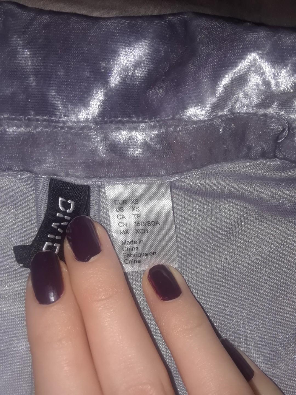 H&M divided silver metallic velvet cardigan blazer long sleeve with pockets S XS