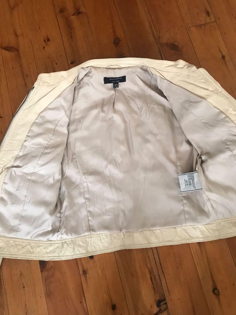 Hollywood leather- women's genuine leather jacket size 12