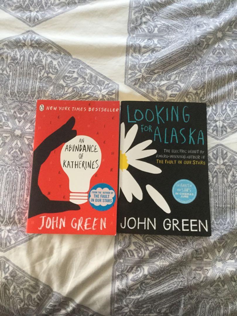 John Green books - Looking for Alaska and An Abundance of Katherines