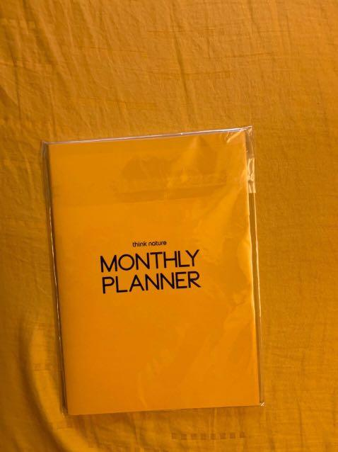 Kang Daniel Think Nature Monthly Planner LIMITED EDITION