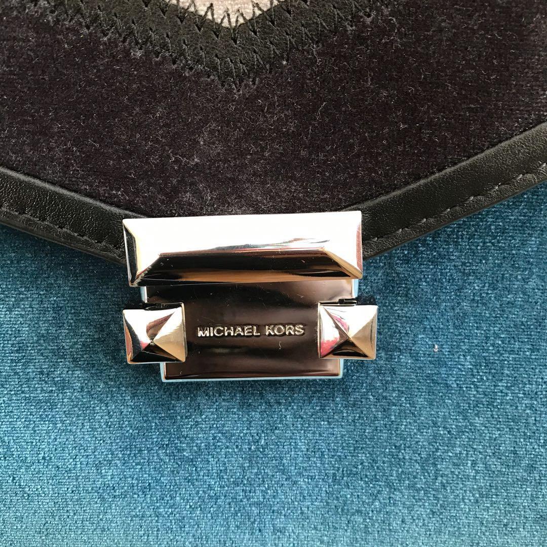 Authentic MICHAEL KORS Large Whitney TriColor Velvet purse