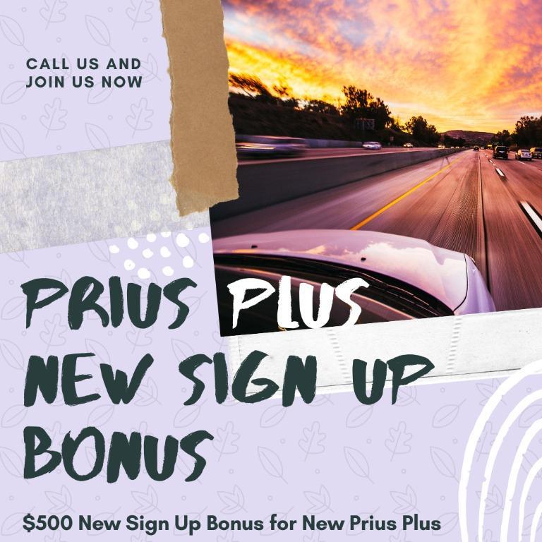New Sign Up Bonus for Prius Plus