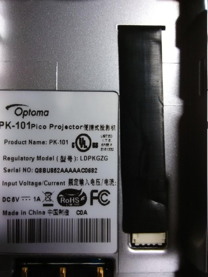 Optima moldel number pk101 Pico projector like new asking$60.00 or best offer
