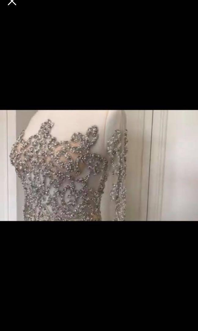 Rodeo drive boutique Heavily beaded stand out formal dress size 10/12