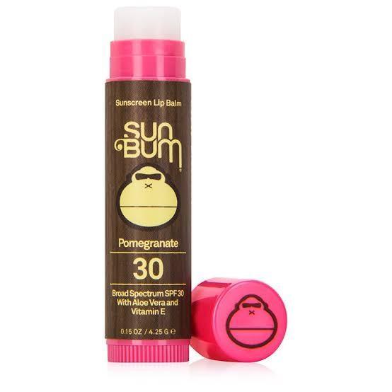 Sun Bum Smoothing Moisturising SPF 15 Protect Pomegranate Lip Balm