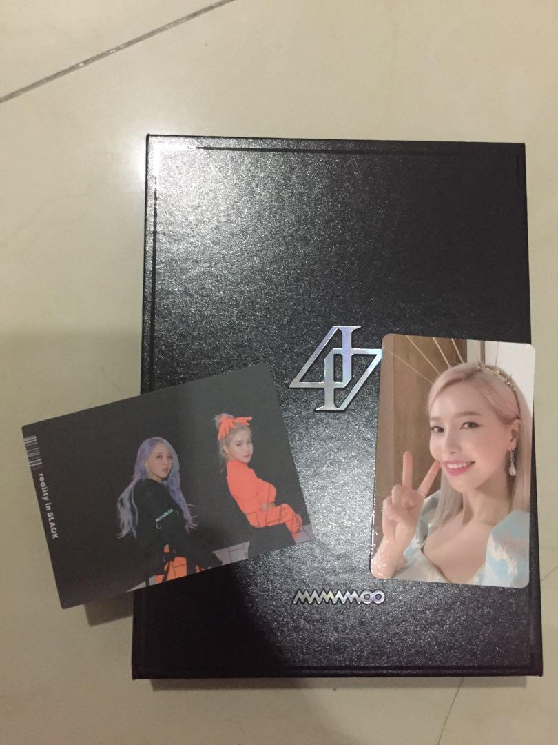WTT ONLY - MAMAMOO REALITY IN BLACK SOLAR TO WHEE IN