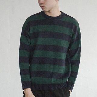 全新出售🔥 AVENIR|撞色條紋 圓領長袖 針織/毛衣 男裝