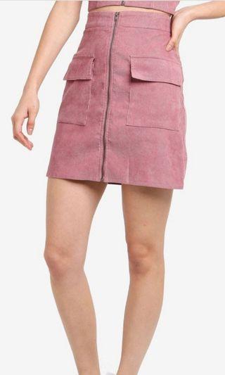 Highwaist curdoroy skirt