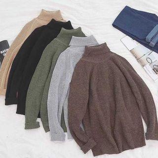 全新出售🔥 AVENIR|高領保暖 長袖 針織毛衣 小版男裝
