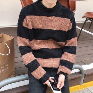 全新出售🔥 AVENIR|橫條紋 保暖 圓領 針織毛衣 小版男裝