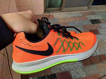 正品 NIKE ZOOM PEGASUS 32 GS 亮橘 螢光綠  編織鞋 運動鞋