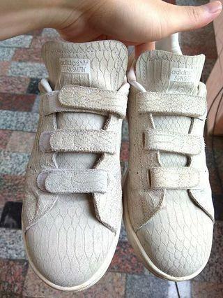 正品 adidas Originals Stan Smith 米灰 魔鬼沾 休閒鞋 平底鞋