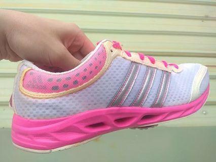 正品 Adidas CC SOLUTION W 超輕量 粉色 運動鞋 慢跑鞋
