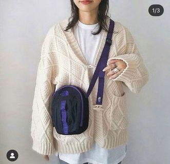 日本正品代購the north face purple label北臉紫標側背包肩背包單肩包小包nn7953n紫黑色
