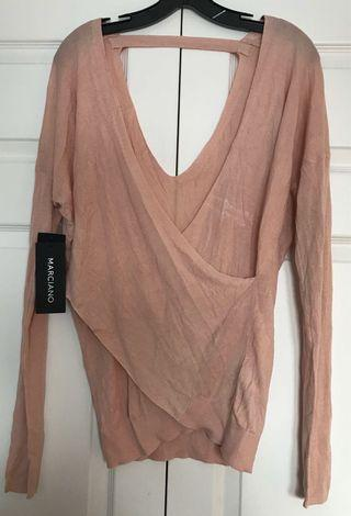Guess Marciano Silk Top (Size Large)