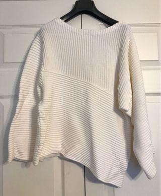 Guess Ribbed White Sweater