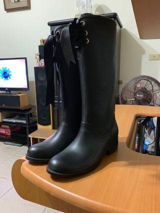 Diana 二手 黑色 雨鞋 22cm