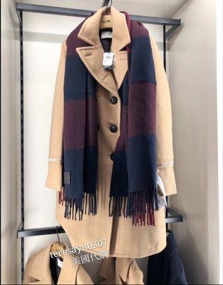 💥 真的要買要快 太優惠了 COACH 羊毛圍巾 長圍巾 披肩 可兩面使用 多色可選擇