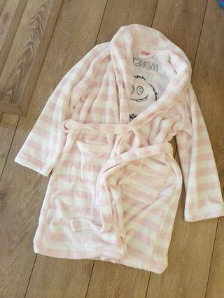 6ixty8ight超柔軟粉紅白條紋睡袍