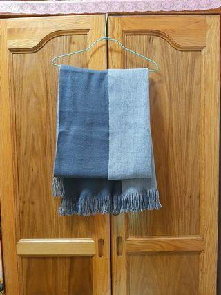 雙面雙色圍巾