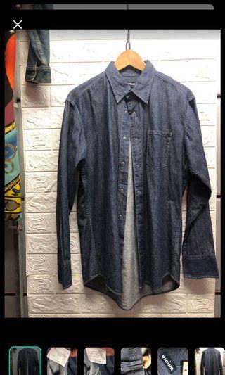 L號 #UNIQLO襯衫 #原色藍 #外搭造型加分❤️藍98