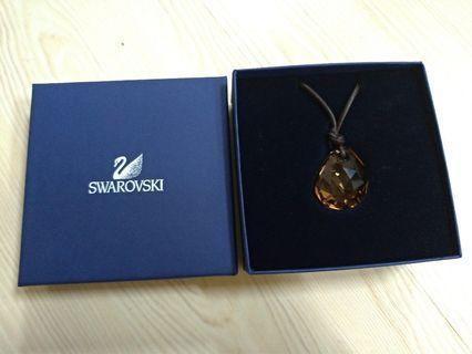 ㊣ SWAROVSKI ㊣ 施華洛世奇 黃水晶項鍊#聖誕禮物