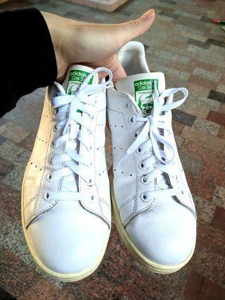 正品 adidas stan smith  休閒鞋 平底鞋 綠尾