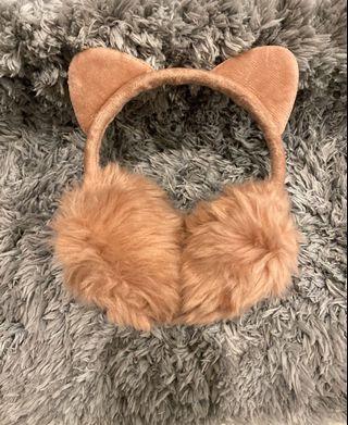 全新日本柔軟長毛護耳溫暖耳罩-粉色#出清2019
