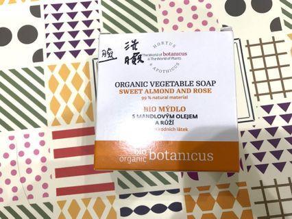 菠丹妮  玫瑰甜杏仁有機皂100g(臉部清潔)