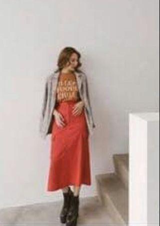 全新Mercci 紅色長裙