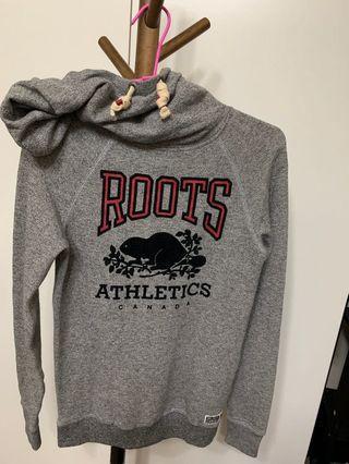 正品Roots刷毛帽T