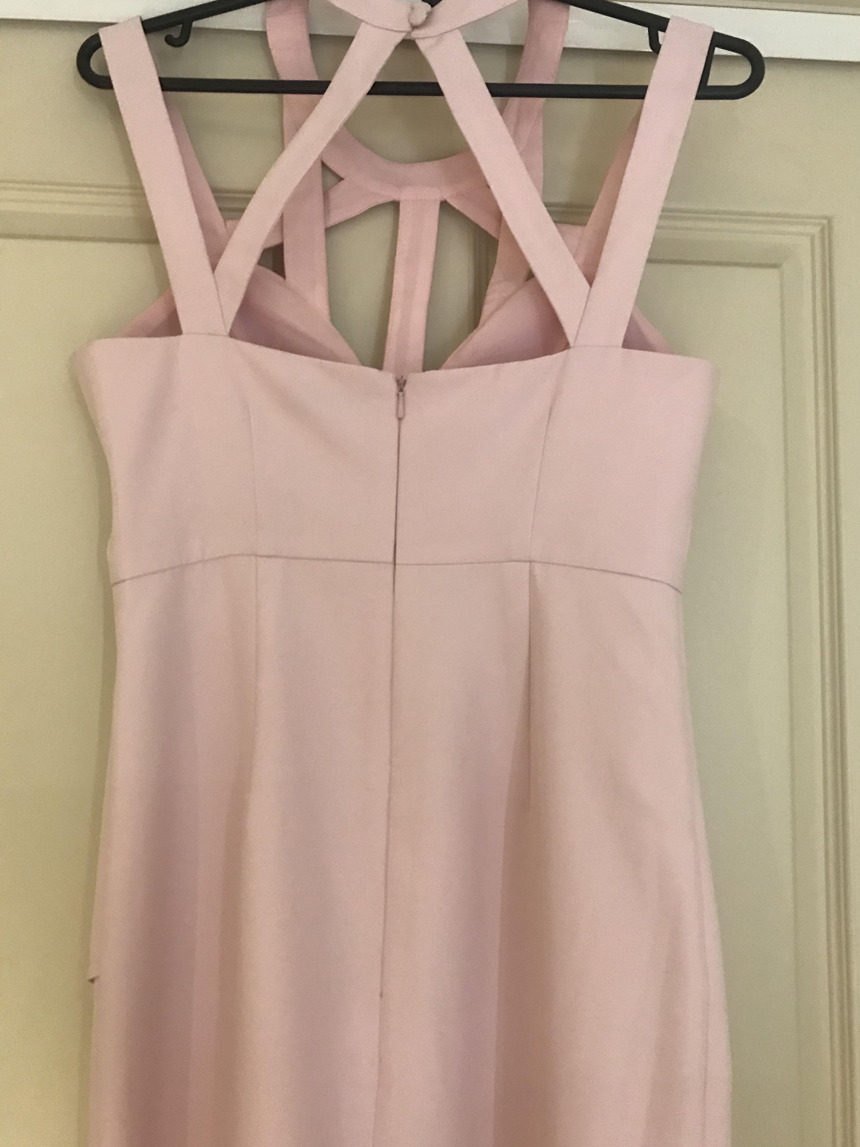 Bariano Lumiere Style L16D13 Baby Pink Evening Dress Size S