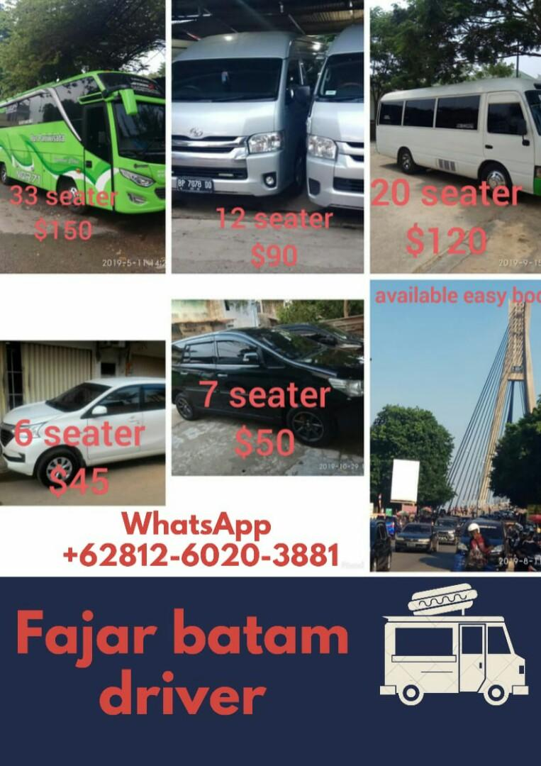 Batam driver and transport.                                     https://wa.me/6281260203881