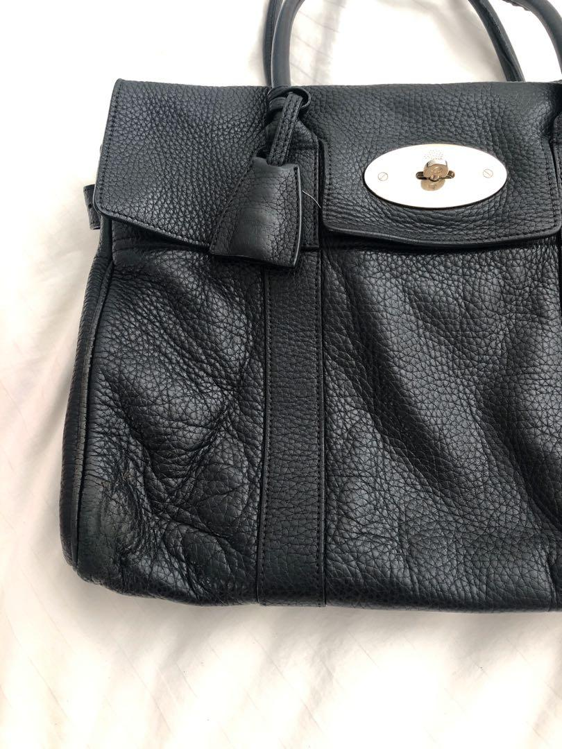 Genuine Black Mulberry Bayswater with gold hardware