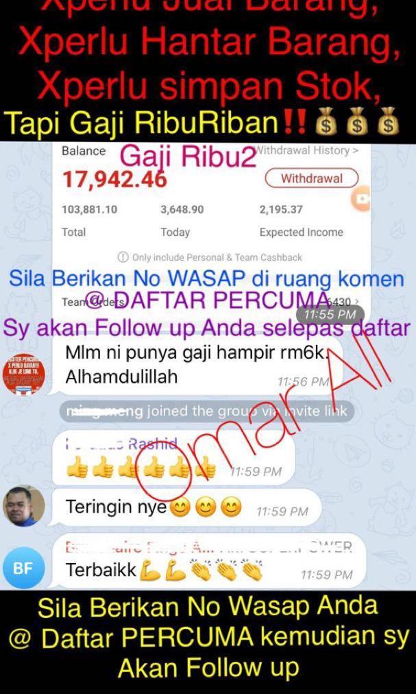 Buat Duit Hari2 Ribu2 Hanya dari Rumah! Bisnes online 2019/2020 paling Masyuk!!!